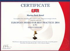 European Award For Best Practices 2014 in the Gold Category